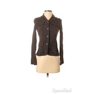 Alice and Olivia Garrison linen blend jacket